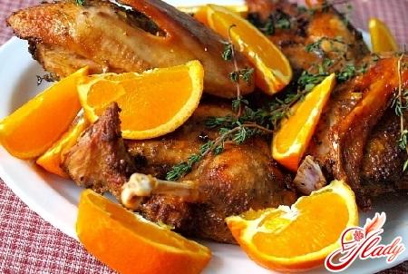 вкусная утка с мандаринами рецепт