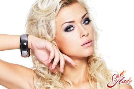 вечерний макияж для блондинки