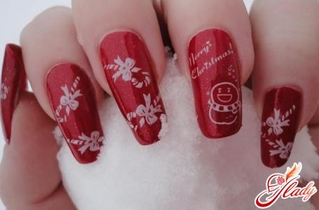 дизайн ногтей новогодний