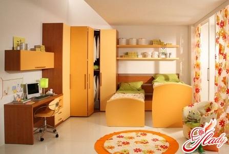 красивый интерьер детской комнаты для двух мальчиков
