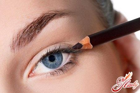как красить глаза подводкой