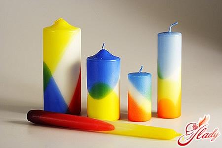 как сделать свечи дома