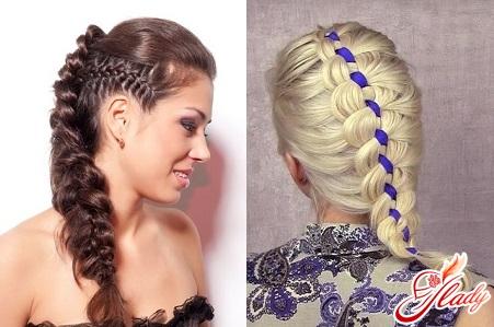 красивое плетение волос прически
