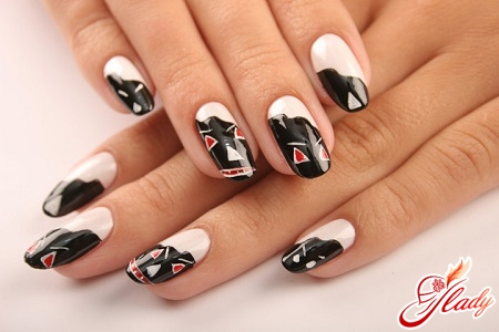 домашний дизайн ногтей: