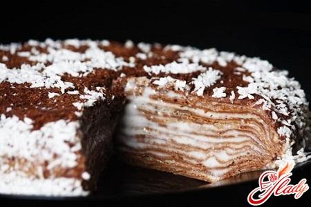 сладкий блинный торт фоторецепт