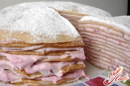 рецепт сладкого блинного торта