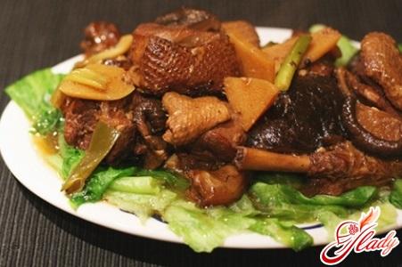 рецепт утки с черносливом