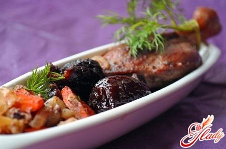 рецепт приготовления утки с черносливом