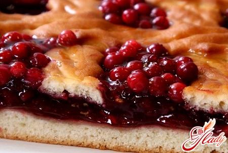 рецепт пирог с брусникой