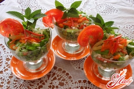легкие салаты с креветками