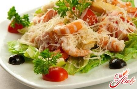 салат цезарь рецепт с креветками