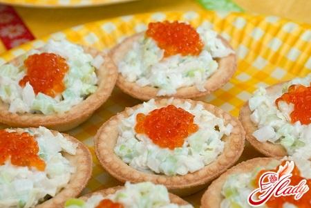 салат с креветками и икрой рецепт