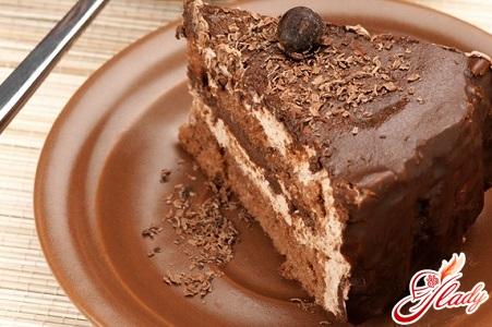 аппетитный шоколадный торт без муки