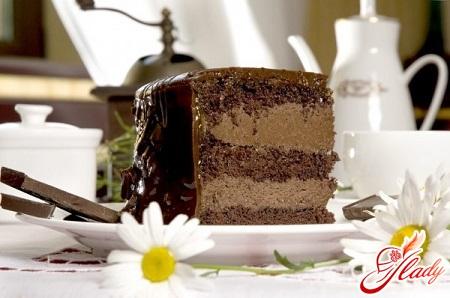 шоколадный торт со сметанным кремом рецепт