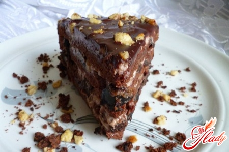 рецепт шоколадного торта с черносливом