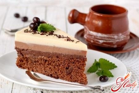 """Три цвета и вкуса в одном совершенстве: Торт """"Три шоколада"""""""