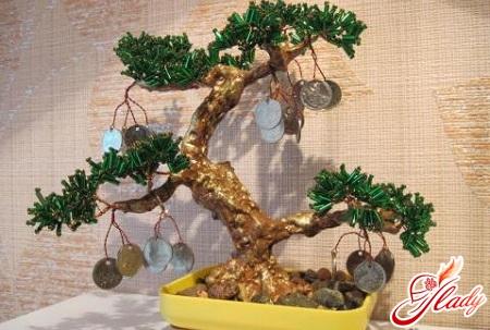 Денежное дерево из бисера своими