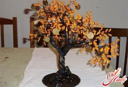 бисероплетение денежное дерево
