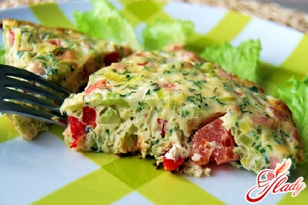 омлет рецепт с колбасой