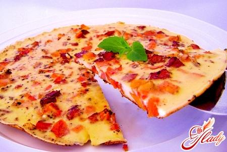 омлет рецепт классический с колбасой на 6 яиц