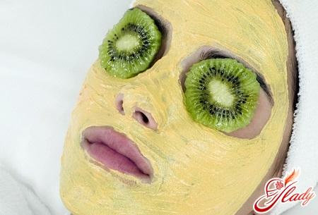 приятная маска для лица из киви