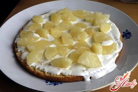 торт панчо с ананасами рецепт