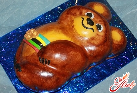 торт олимпийский мишка