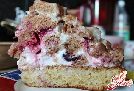 вкусный торт панчо с вишней