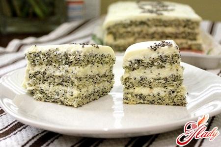 рецепт торт с маком