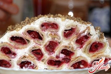рецепт торт вишневая горка