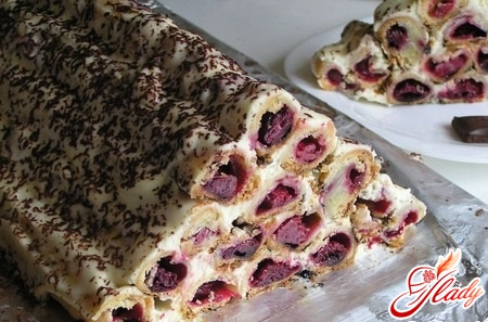 как приготовить торт горка вишня
