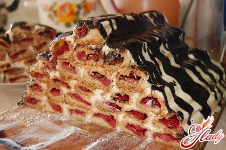 торт вишневая горка рецепт