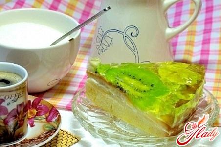 бисквитно желейный торт