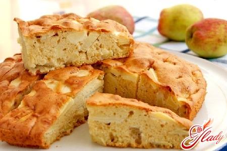 Шарлотка без яиц с яблоками рецепт с кефиром 9