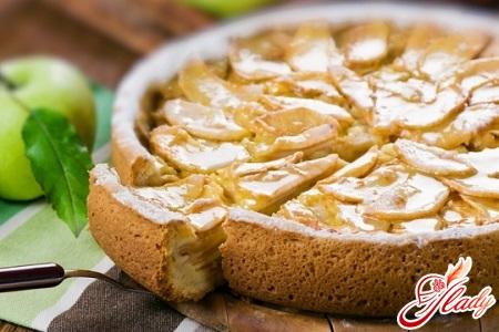 пирог с яблоками без яиц