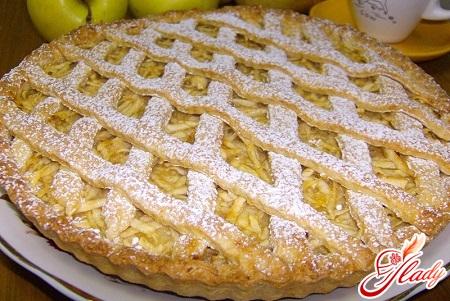 вкусный заливной пирог с яблоками