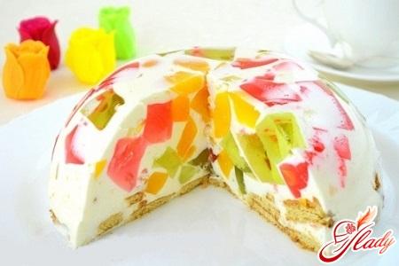рецепт желейного торта мозаика