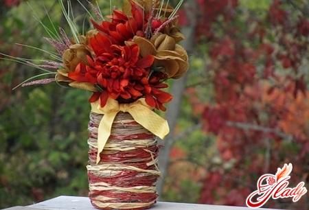 декорируем вазу своими руками