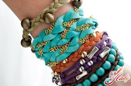 стильные браслеты своими руками
