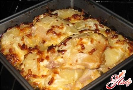 вкусная курица под ананасами в духовке