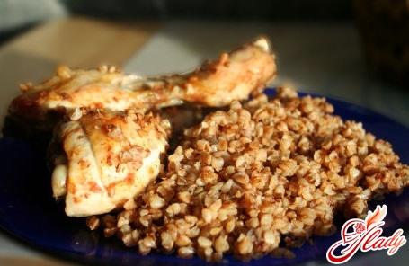 рецепт курица с гречкой в духовке
