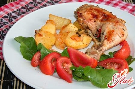 курица с овощами в духовке рецепт