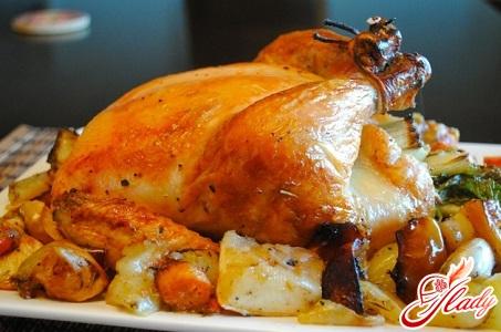 курица в духовке в фольге