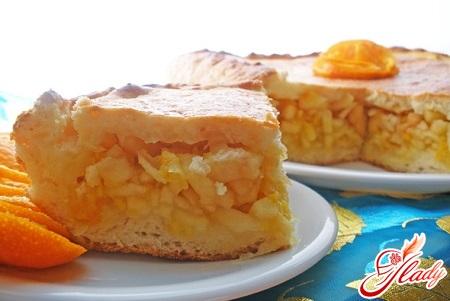 пирог с апельсинами и яблоками