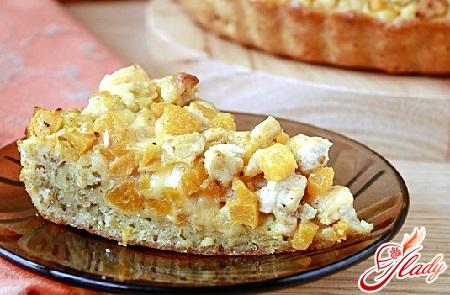 пирог из тыквы и яблокпирог из тыквы и яблок