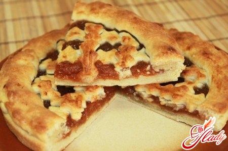 пирог с яблочным повидлом рецепт