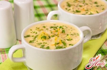 как приготовить сырный суп диетический с грибами