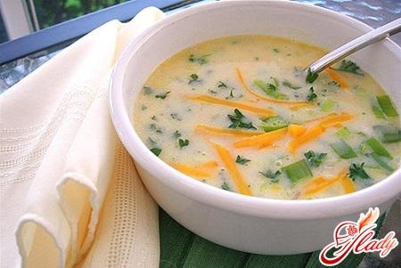 рецепт сырного супа пюре