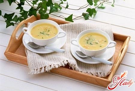 сырный суп пюре с креветками
