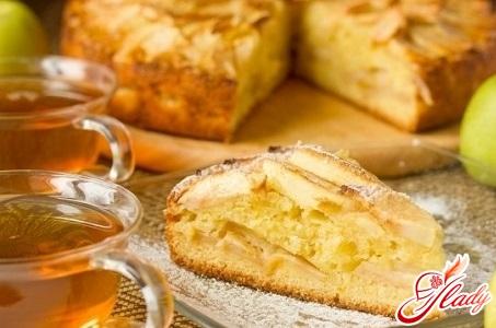 вкусный пирог с апельсинами и яблоками